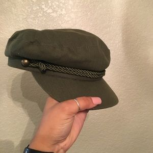 Never worn! Army green conductor hat